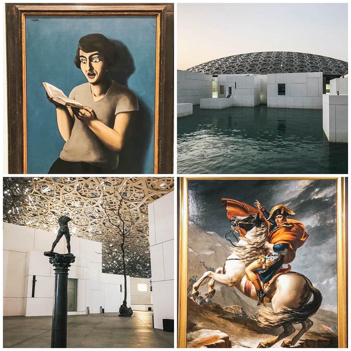 toiles musée peintures abu dhabi