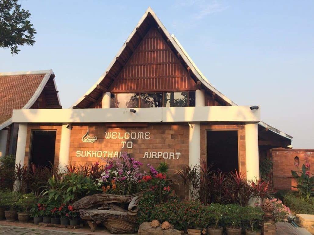 aeroport sukhothai thaïlande