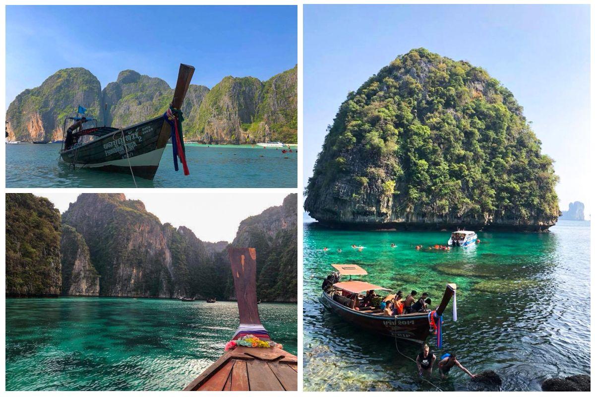 maya bay mer bateau koh phi phi