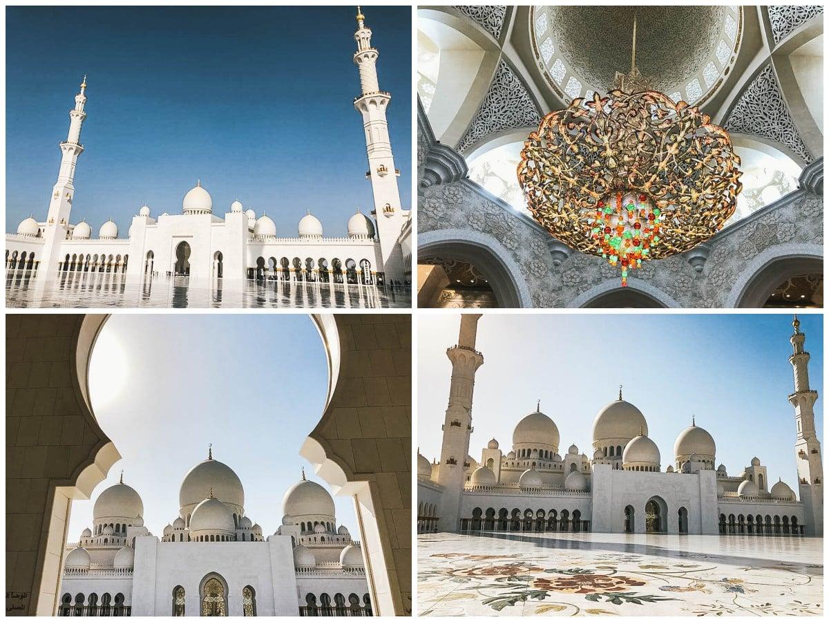 mosquée lustre abu dhabi