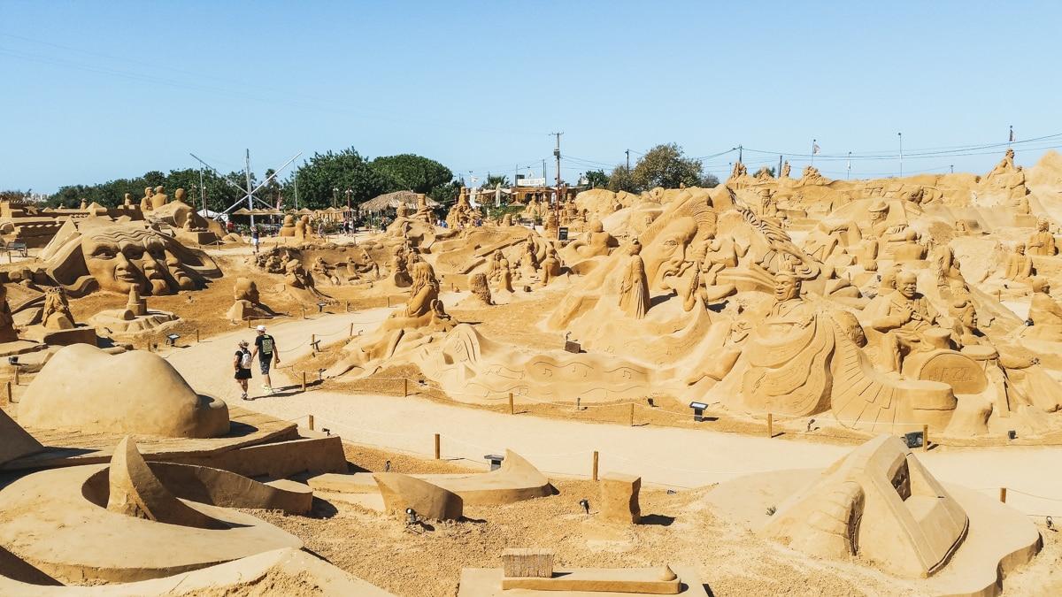 algarve sculpture de sable