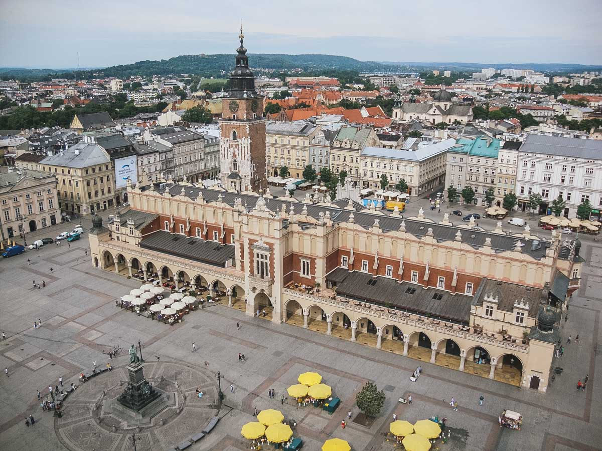 place pologne cracovie