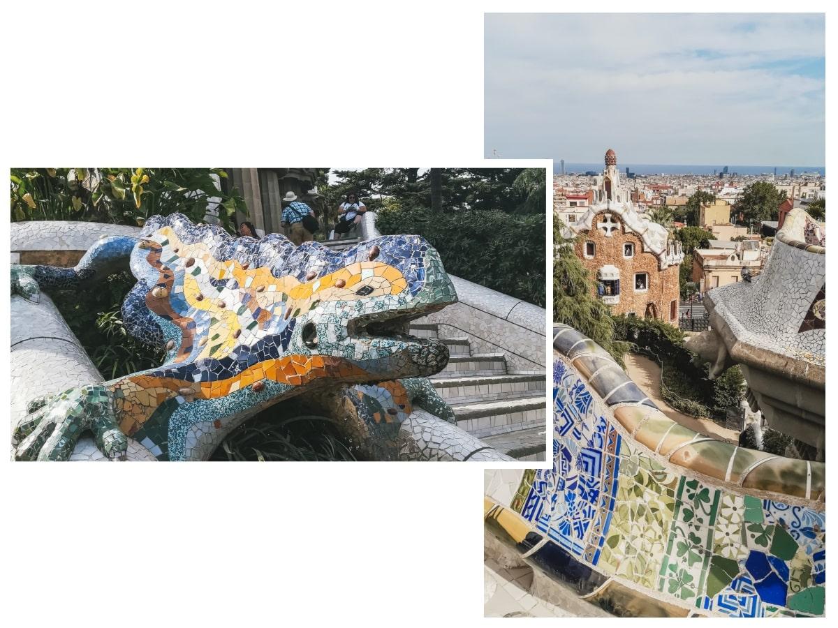 parc mosaïque iguane barcelone