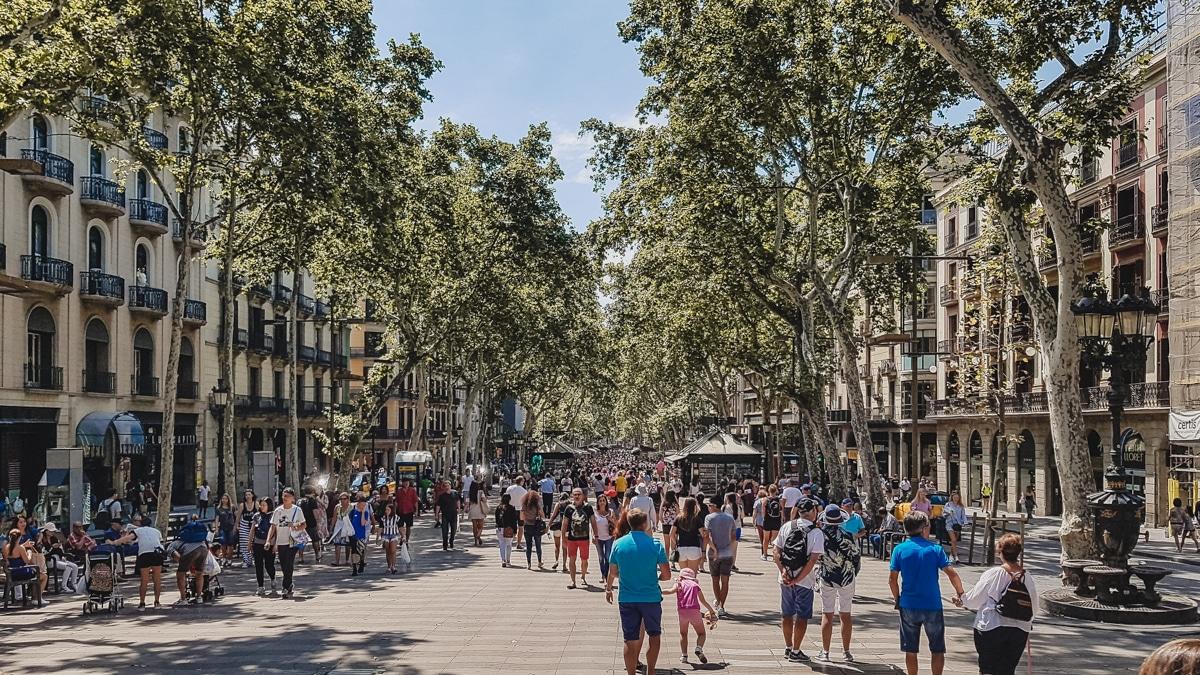 rambla barcelone rue