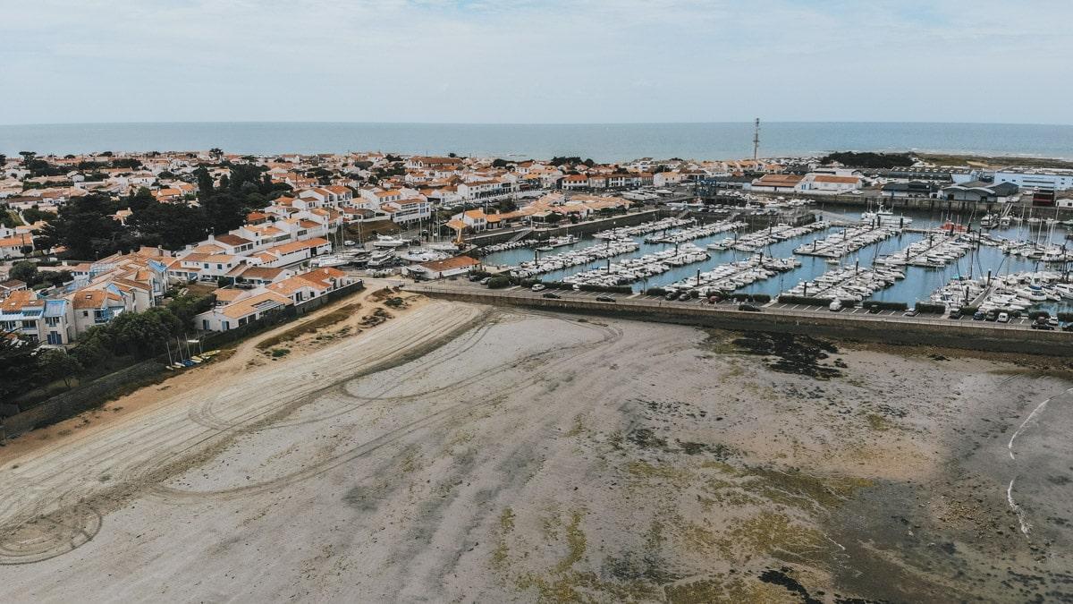 noirmoutier drone mer