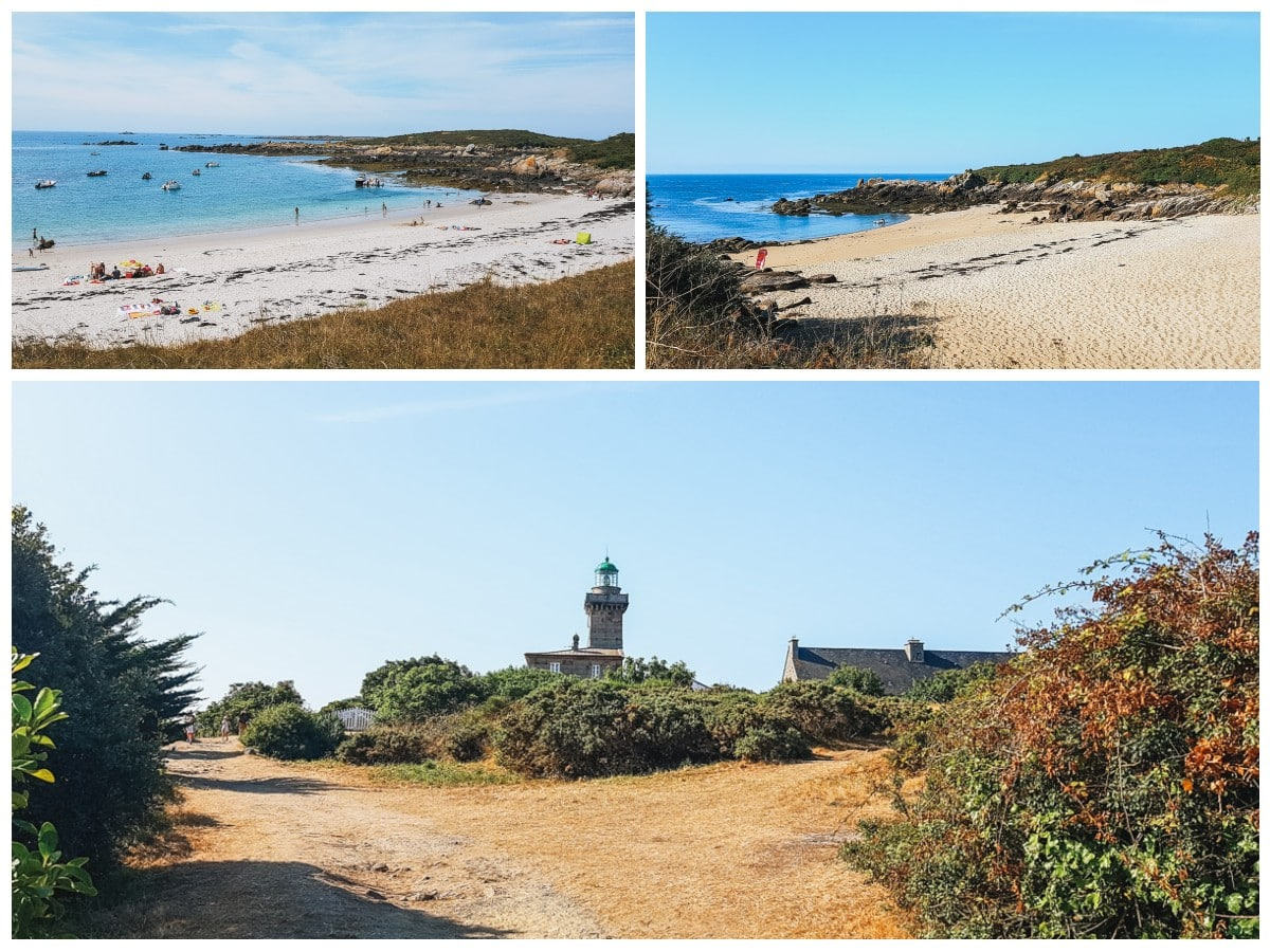 chausey plages phare
