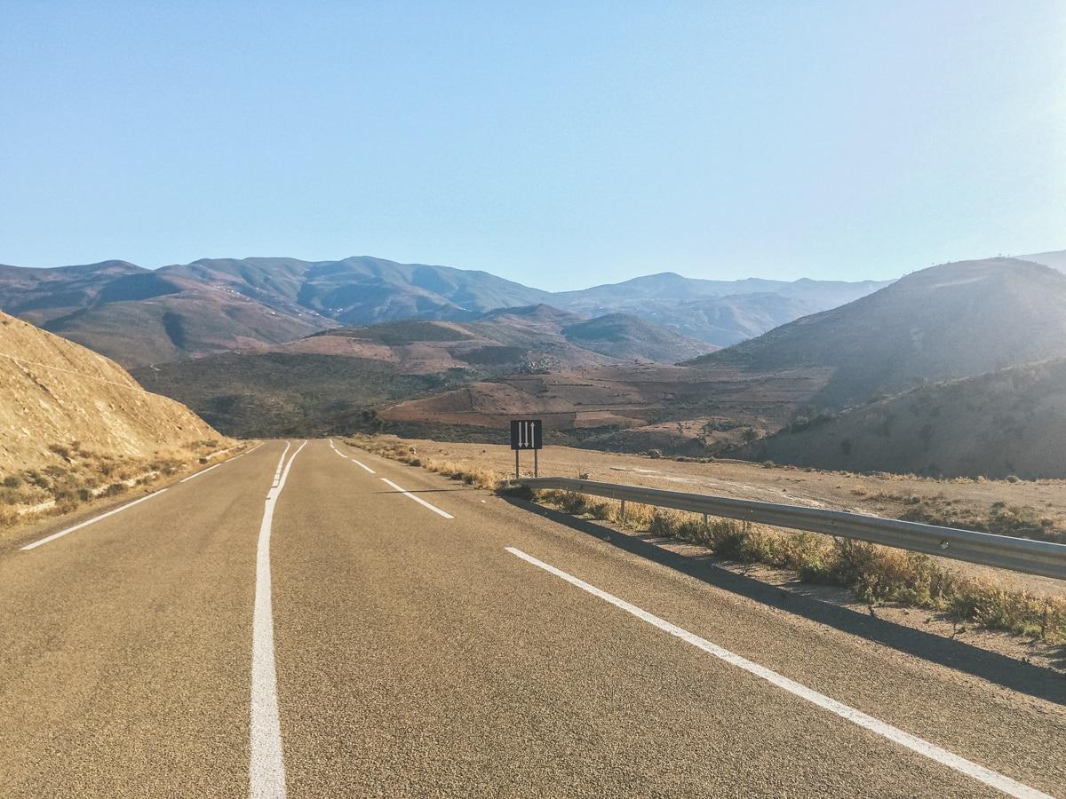 route montagnes maroc