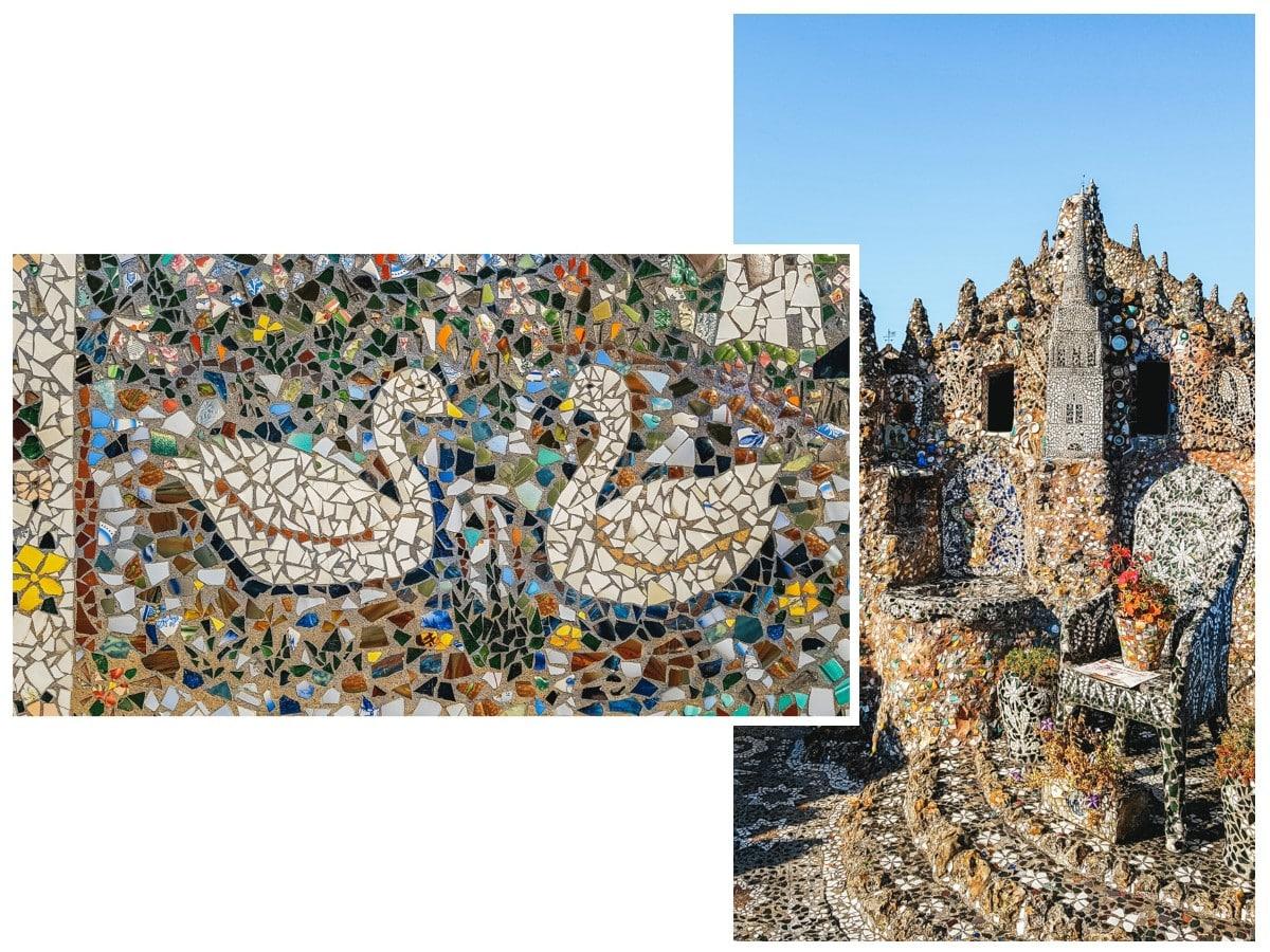 mosaïques cygnes maison chartres