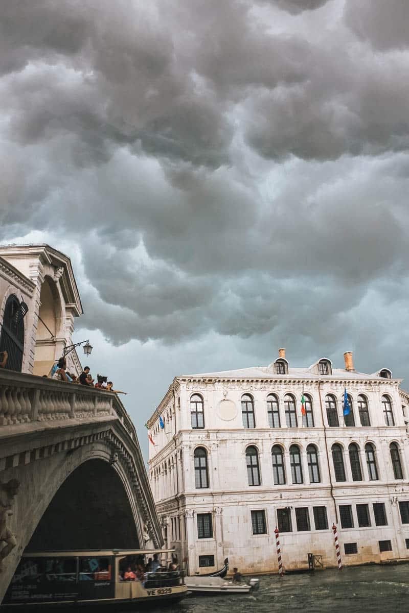 orage pont canal venise