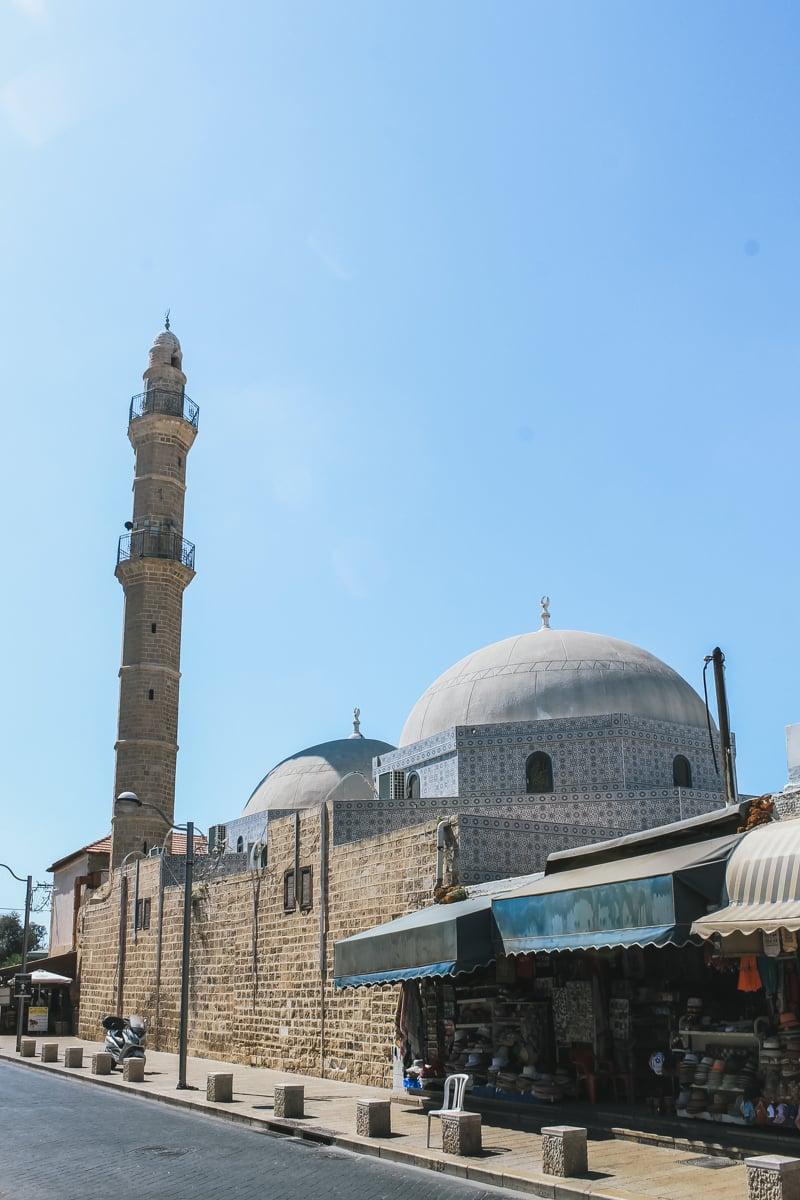 mosquée minaret jaffa israël