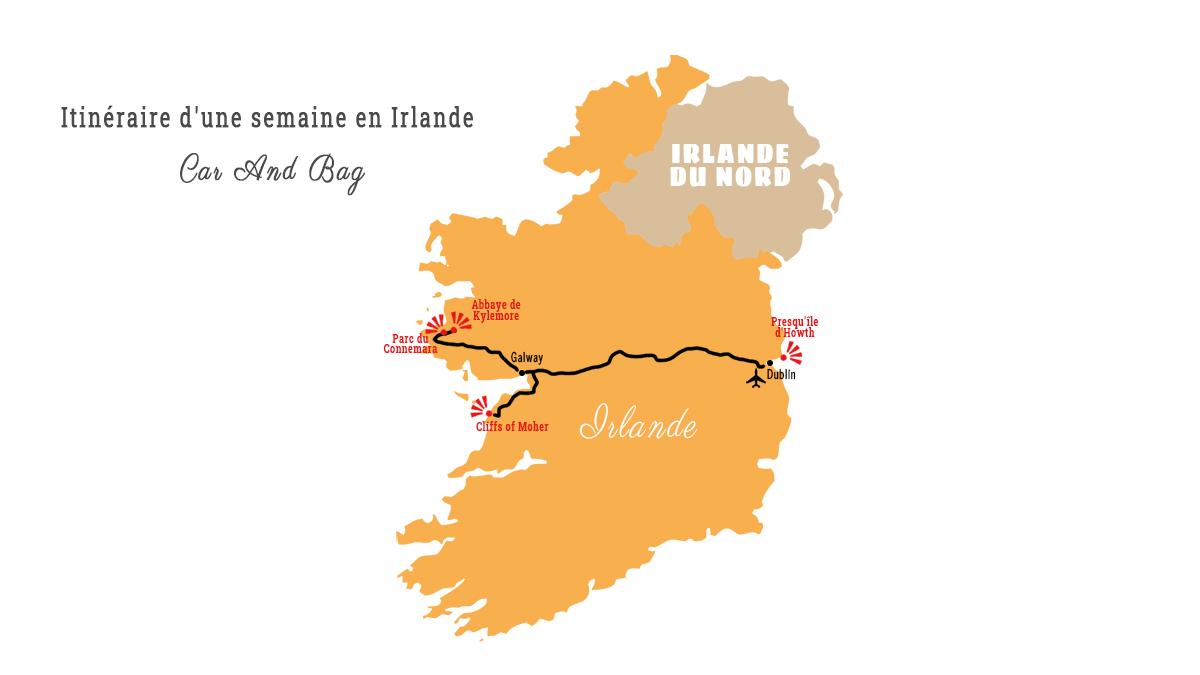carte irlande