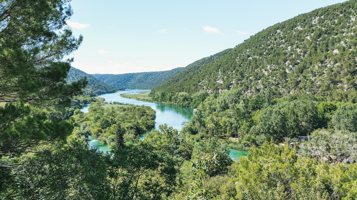 parc lac arbres croatie
