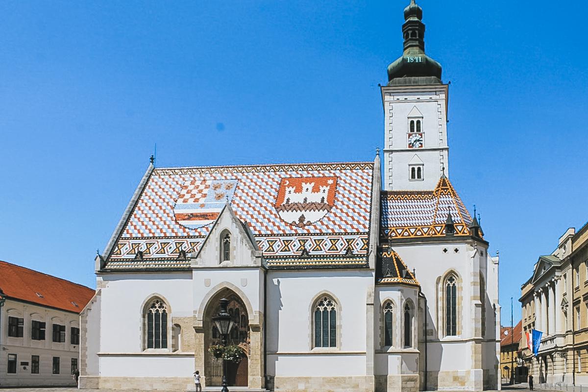 église toiture croatie zagreb