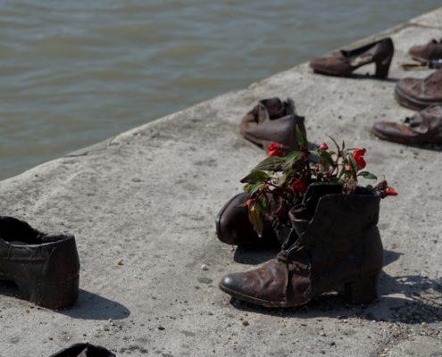 chaussures fleuve fleurs