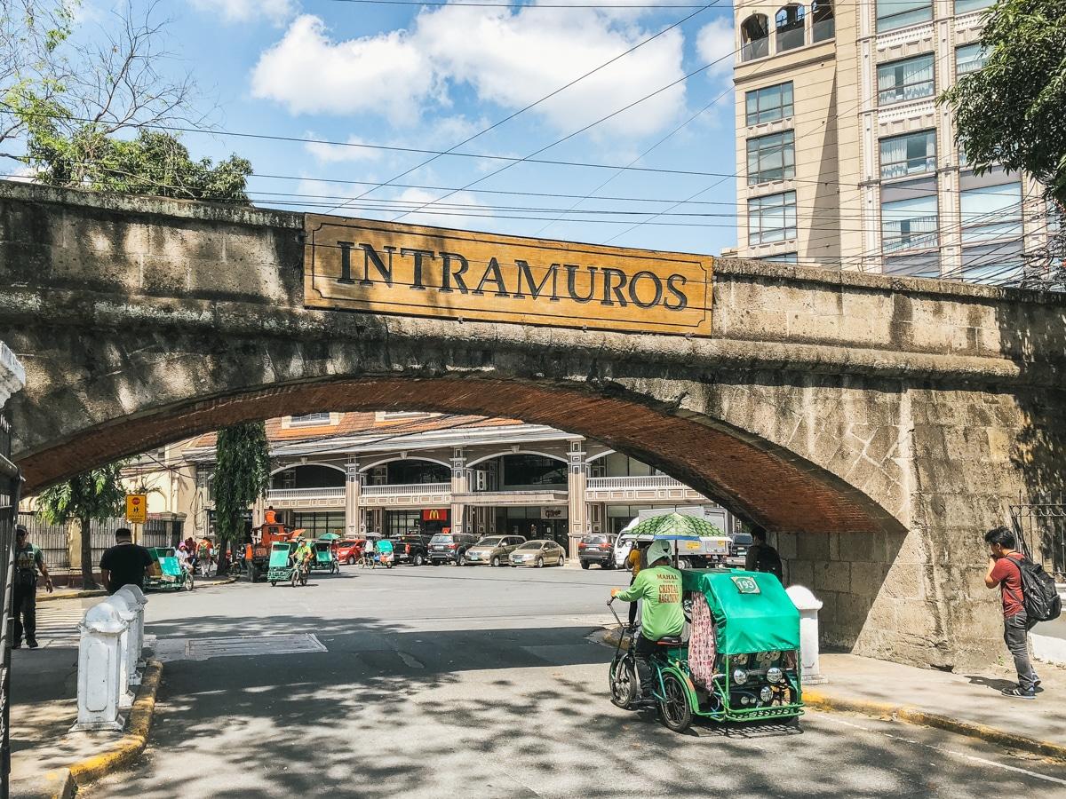 manille intramuros pont philippines