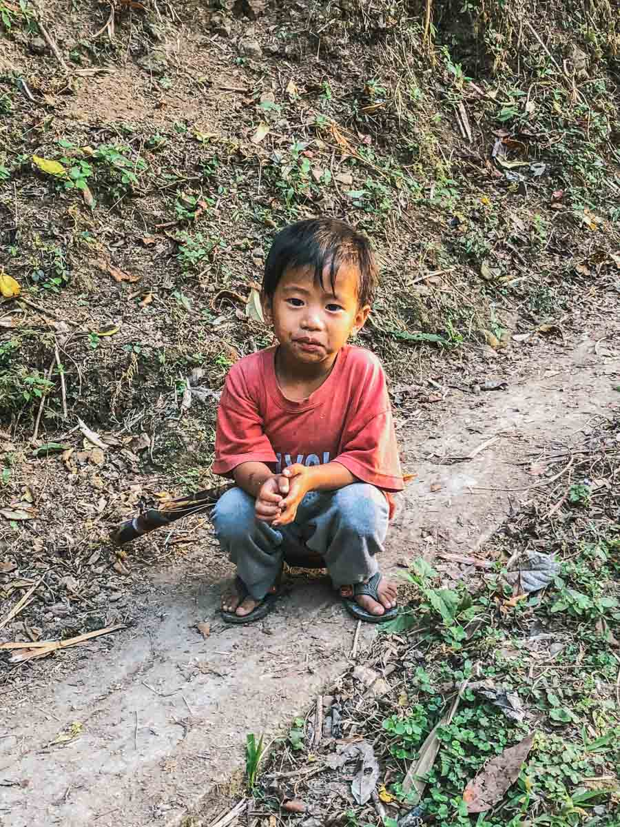 enfant garçon rizières