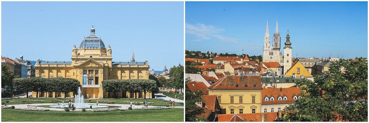 cathédrale musée zagreb ville croatie