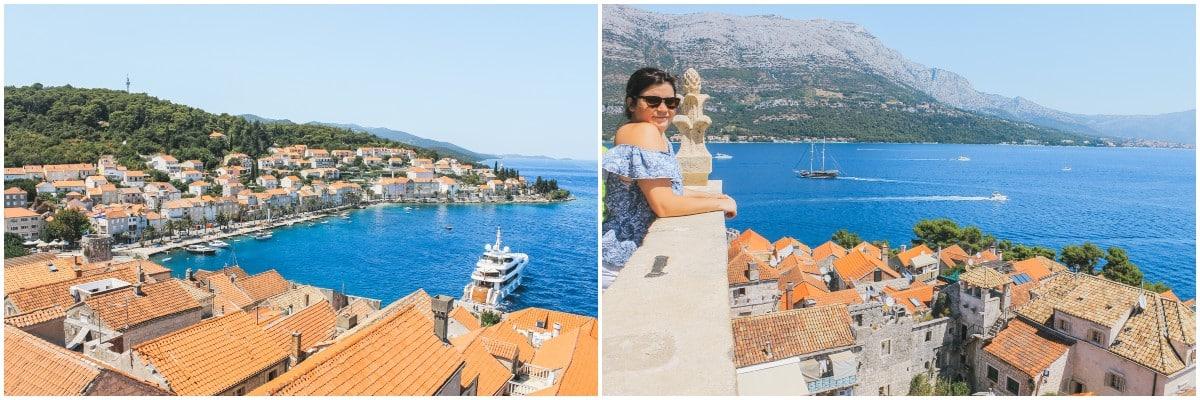 carole ville mer île korcula croatie