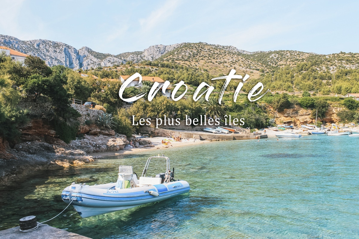 bâteau mer croatie île