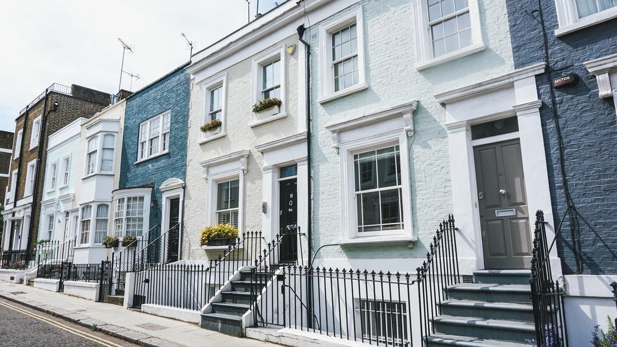 maisons couleur londres