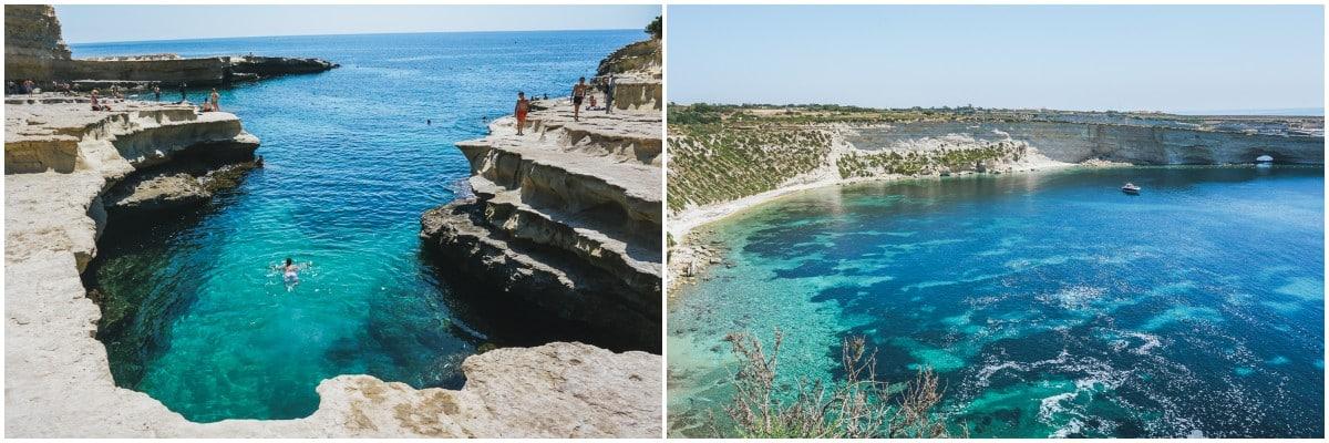 mer falaise malte piscine