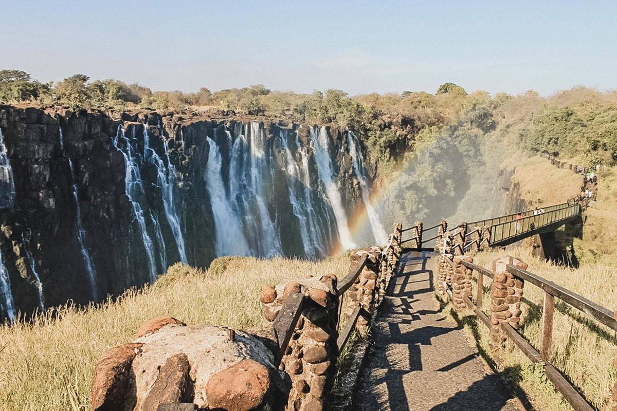 chutes chemin zimbabwe zambie