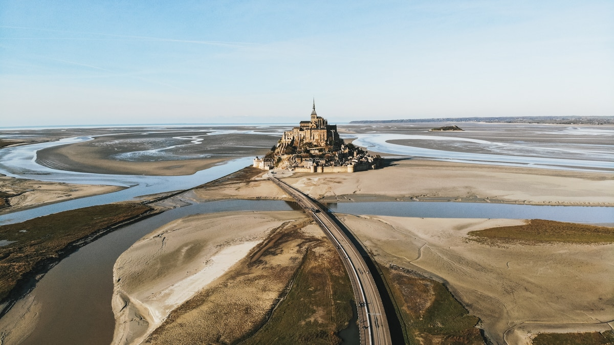 mont saint michel route île normandie