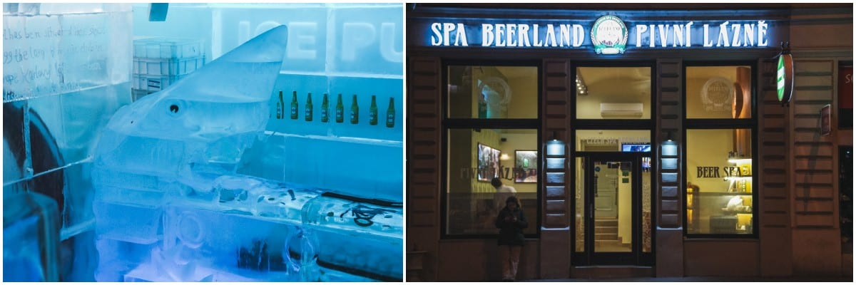 beer spa ice bar prague