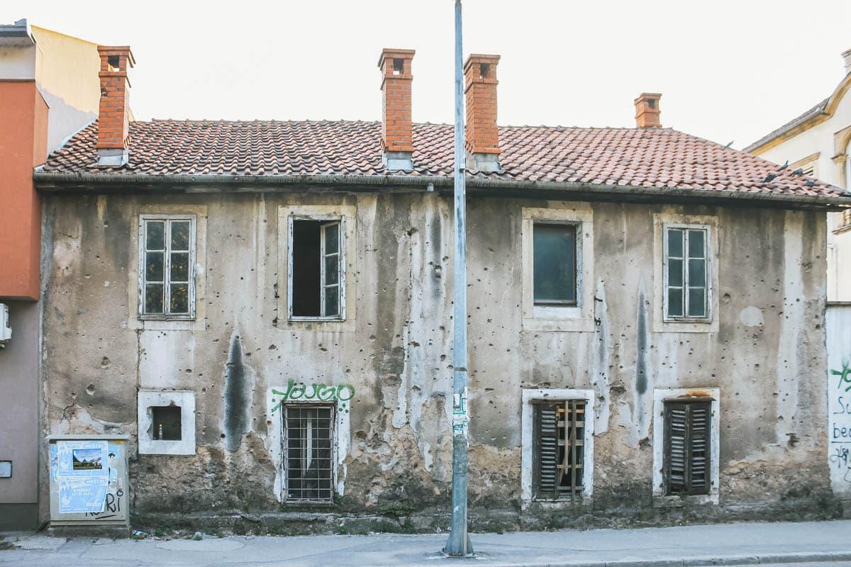 maison balles bosnie mostar