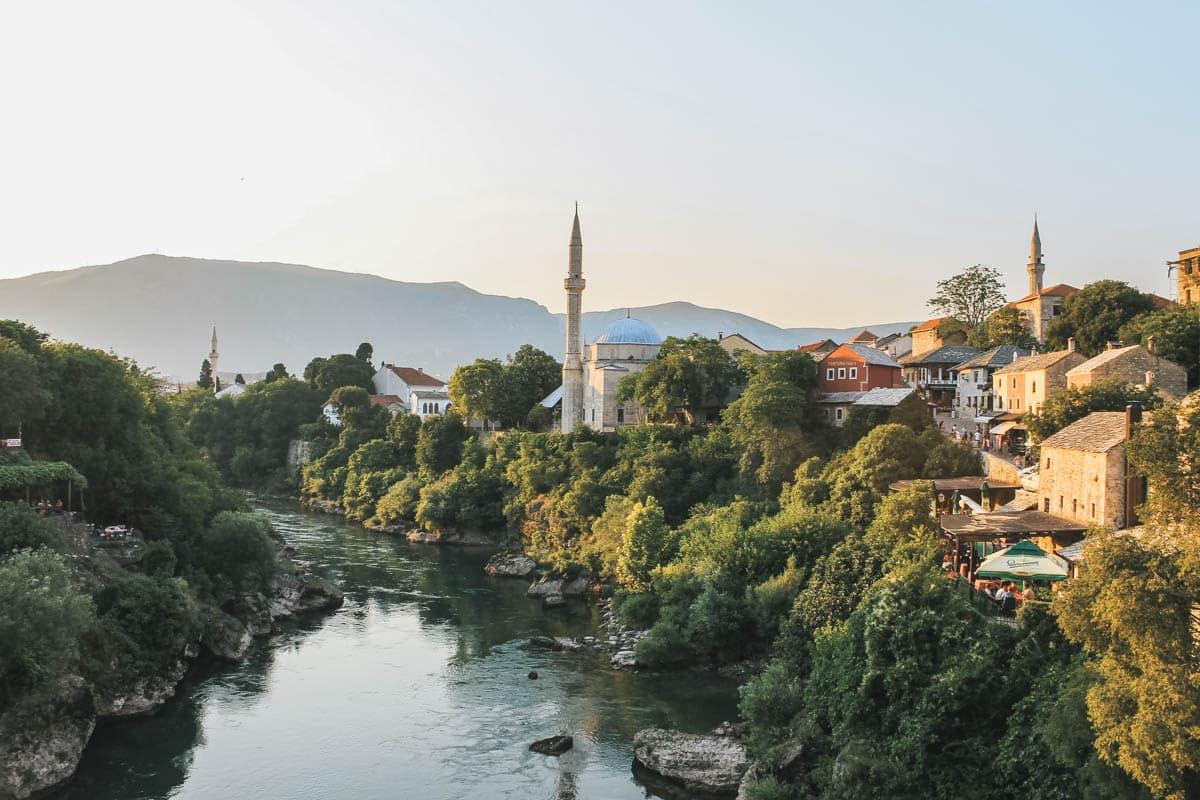 mosquée rivière bosnie mostar