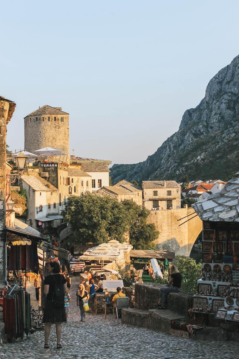 ruelle boutiques bosnie mostar