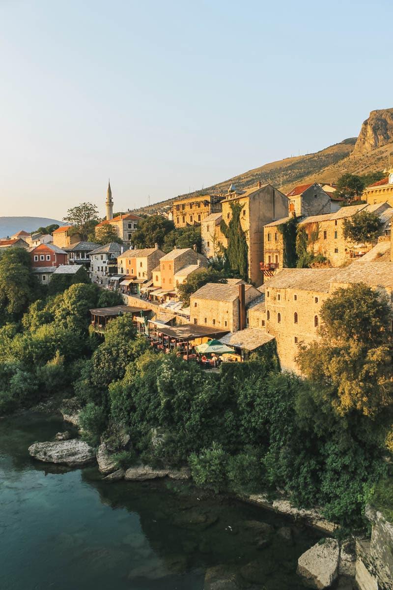 rivière maisons bosnie mostar