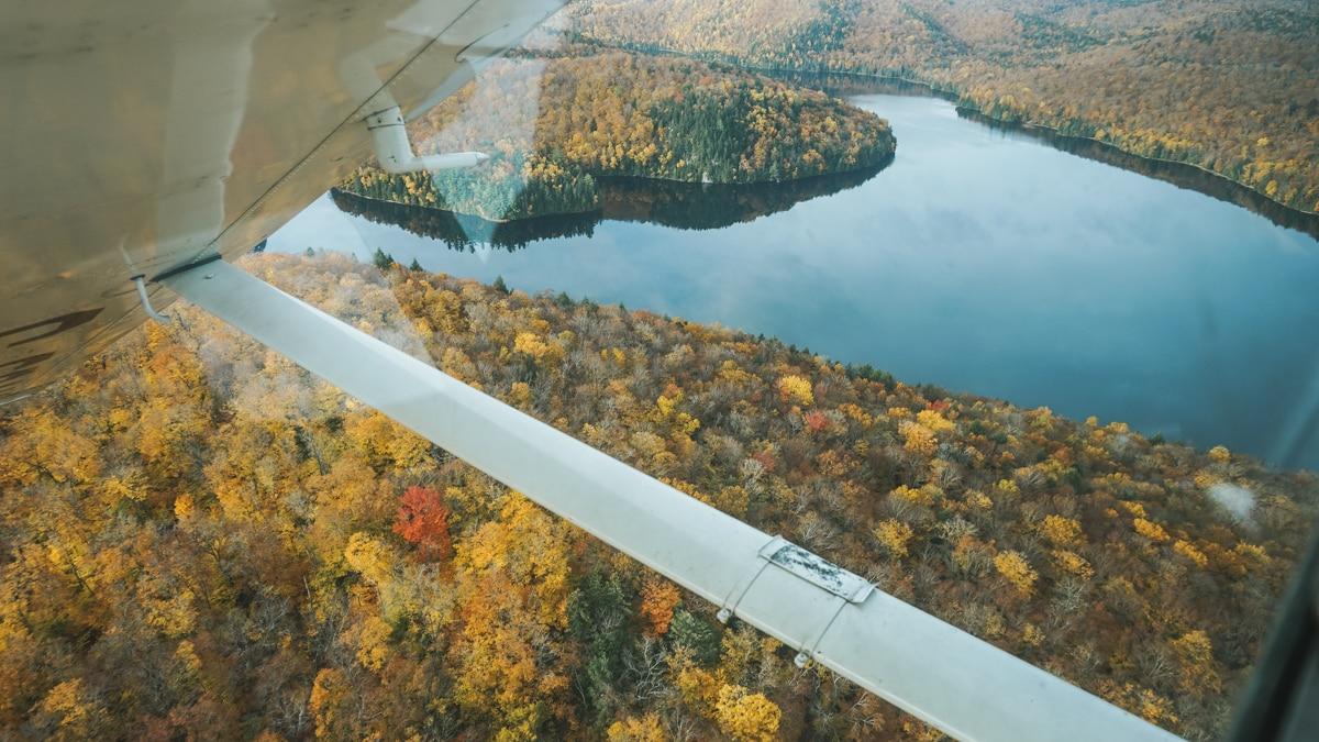 hydravion lac arbres quebec