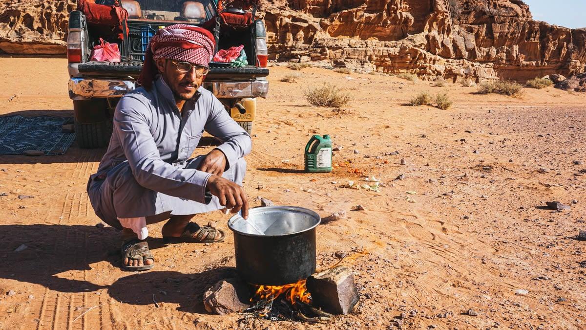 bédouin cuisine désert jordanie
