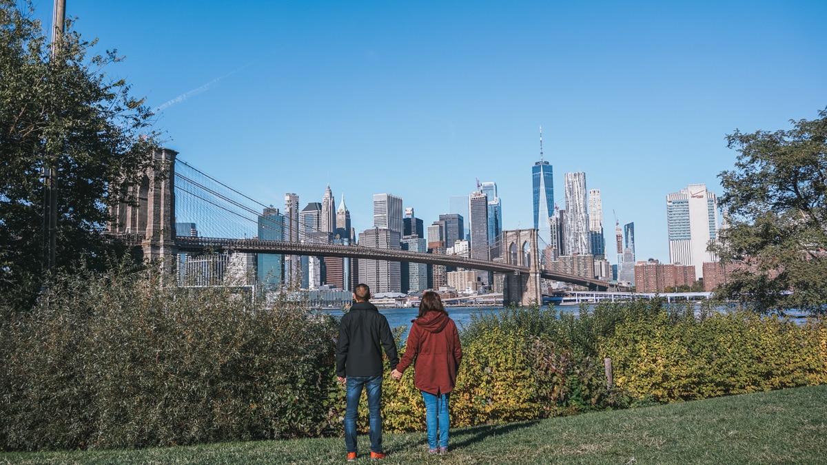 couple pont parc new york