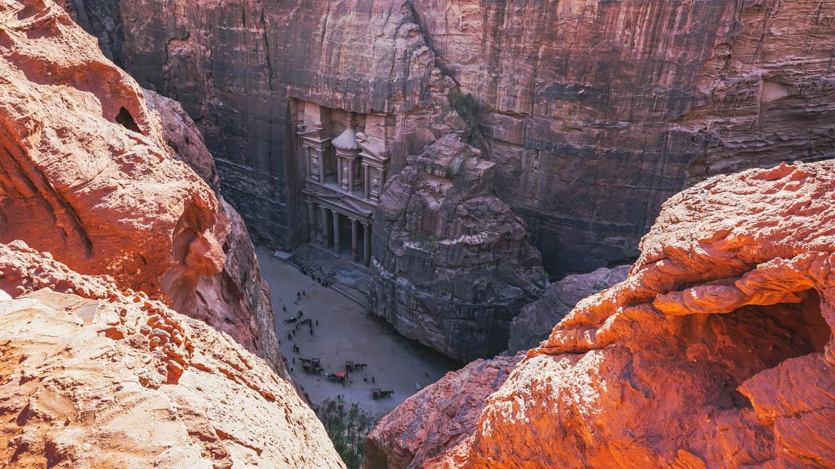 trésor roche pétra jordanie