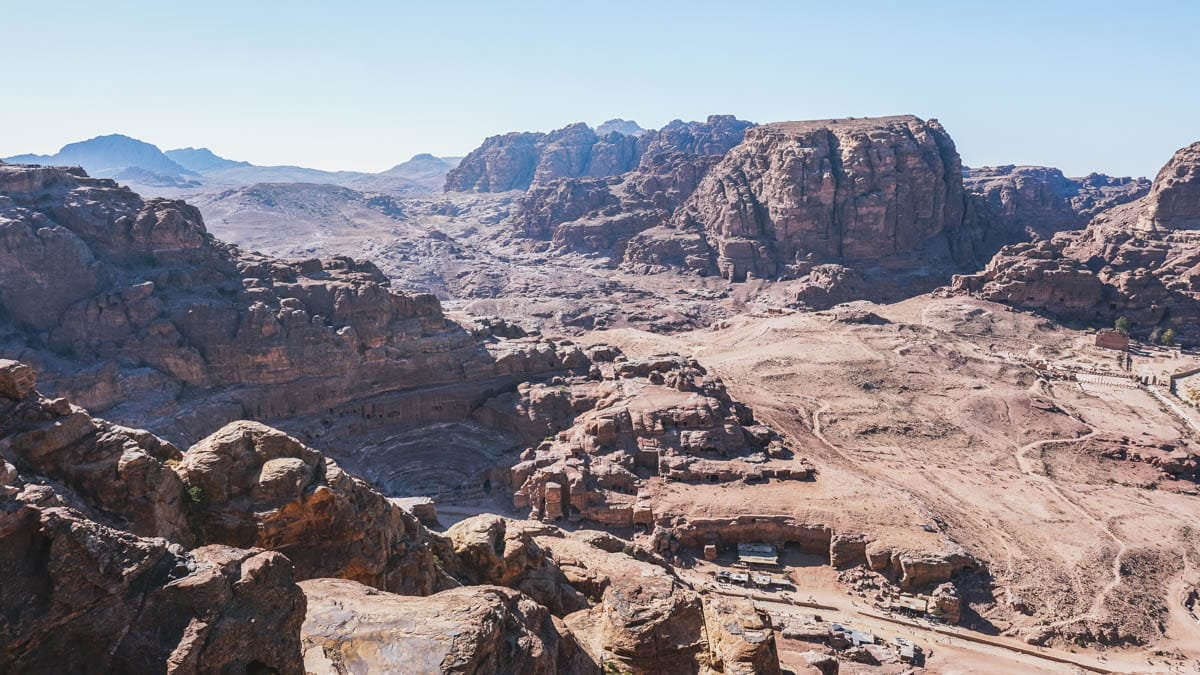 théâtre vue montagne jordanie pétra