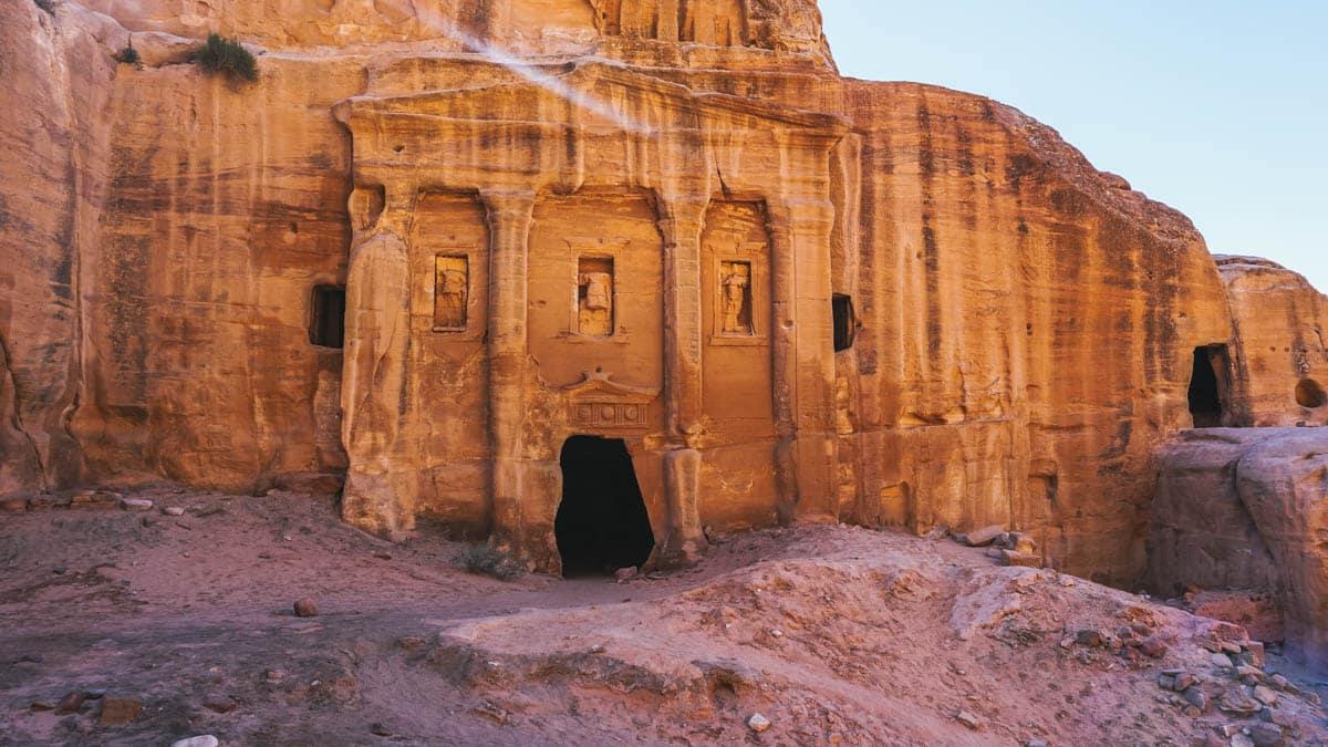 pétra rocher désert jordanie