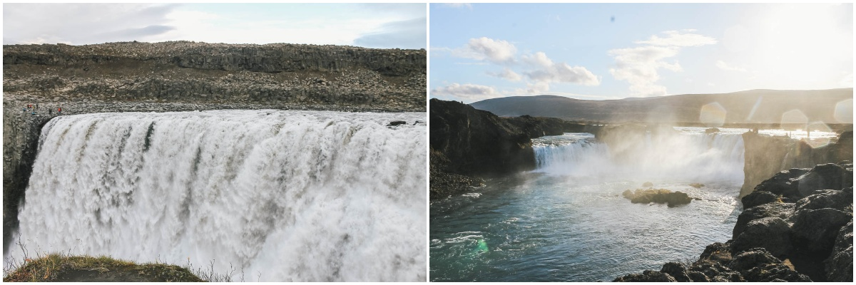 cascades chutes eau islande