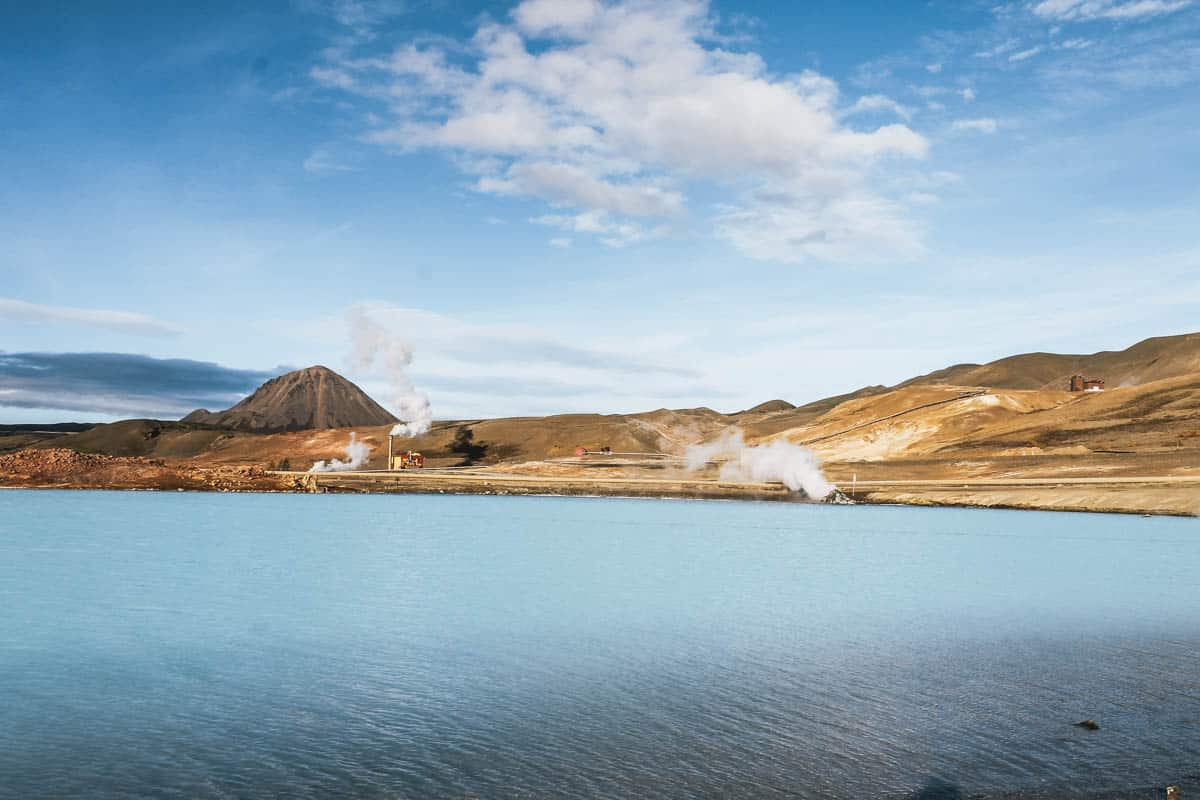 lac fumerolle islande