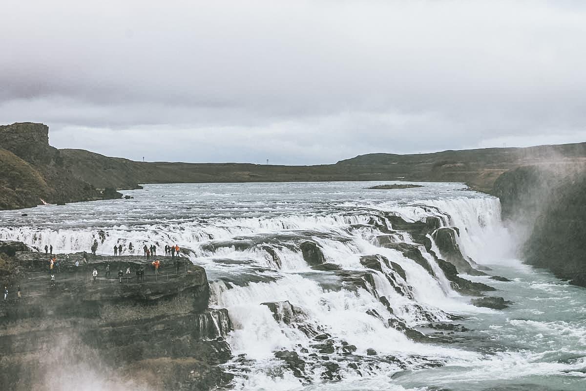 gullfoss islande cascade