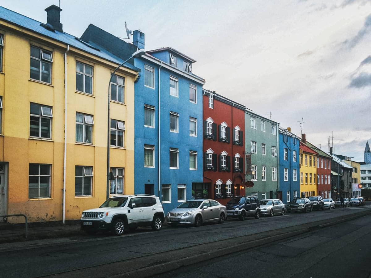 façade rue reykjavik islande