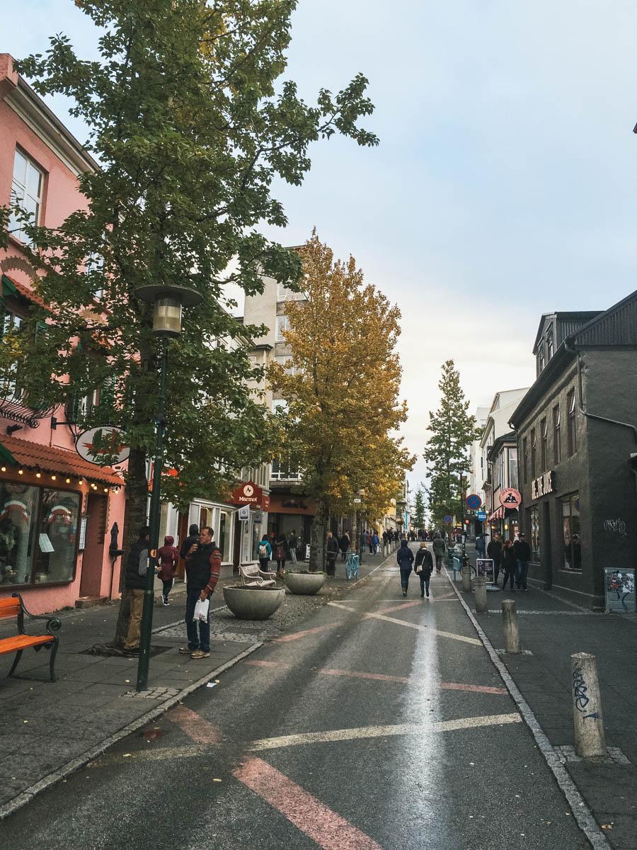 rue reykjavik islande