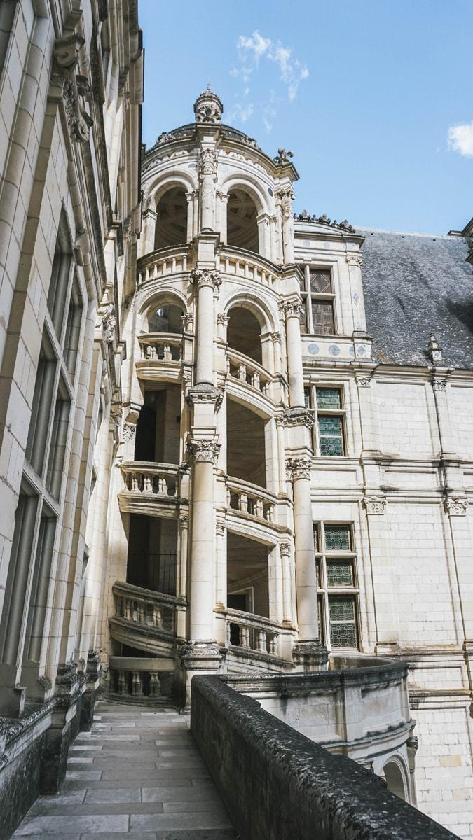 château chambord escalier