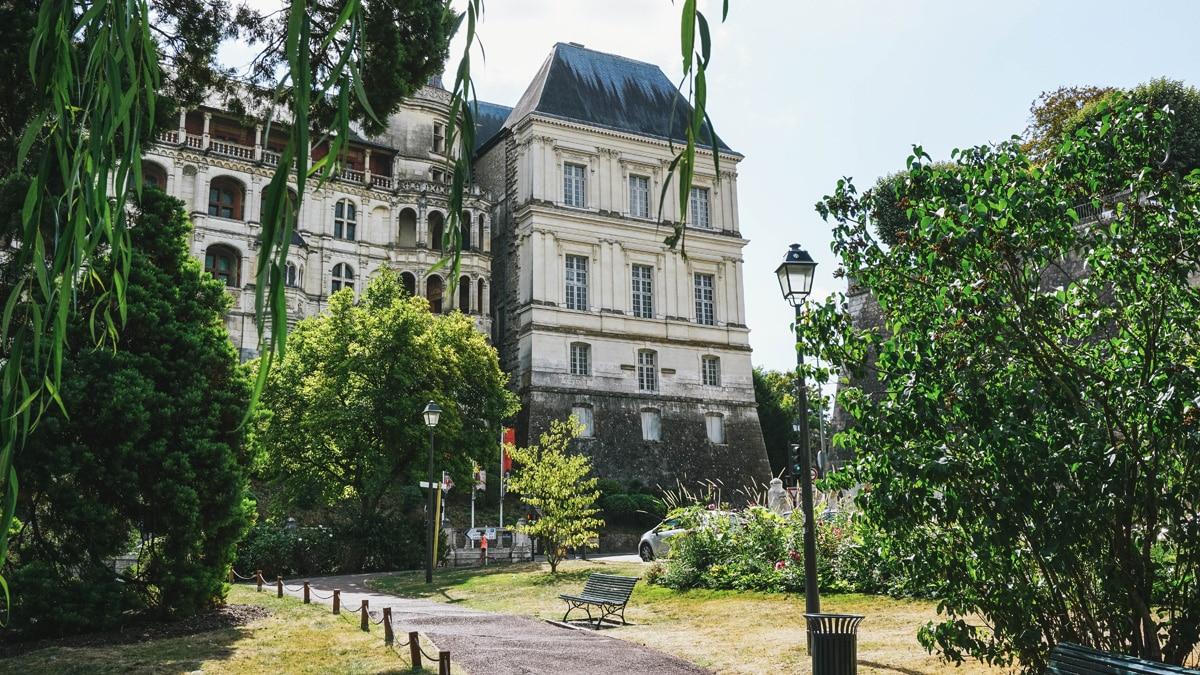 château parc banc blois