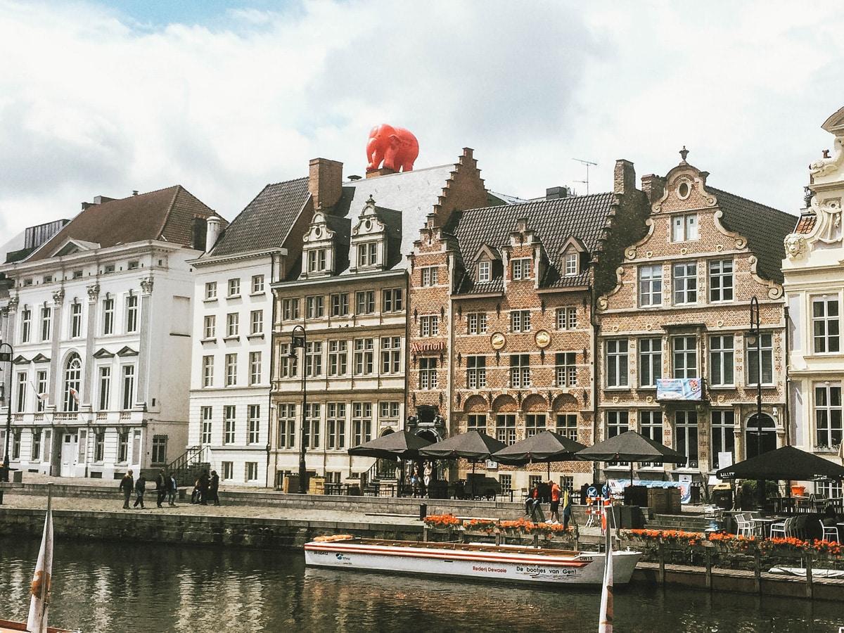 maisons rivière éléphant gant belgique