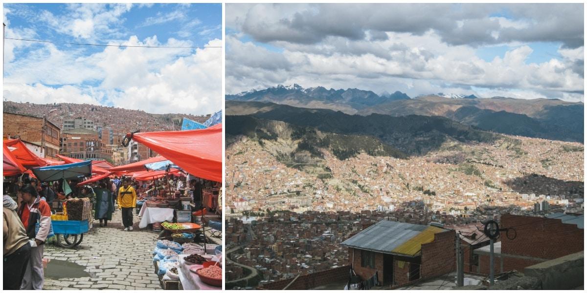 bolivie ville montagnes