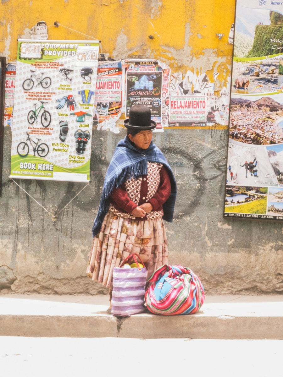 cholita bolivie rue