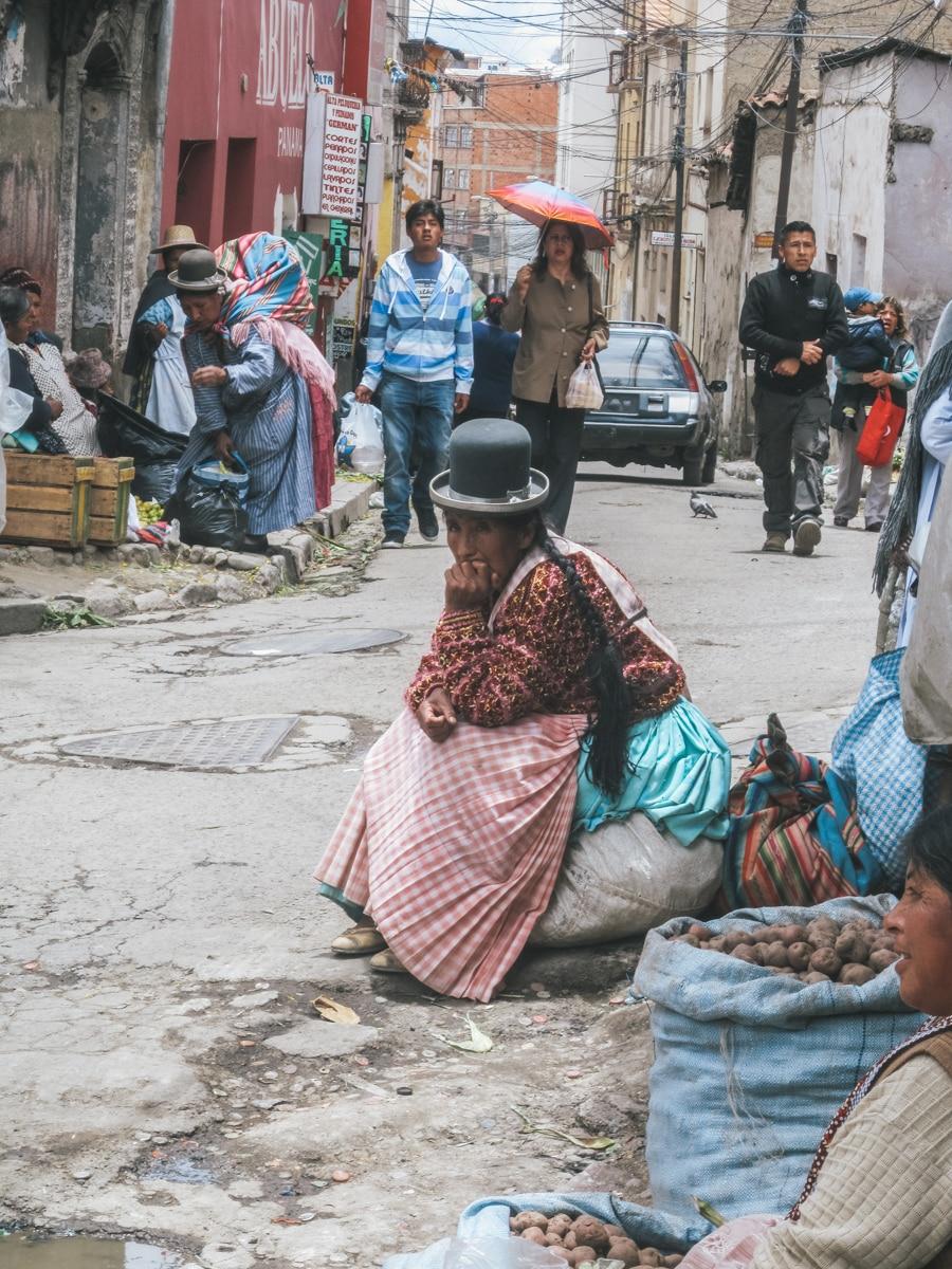 cholitas rue la paz