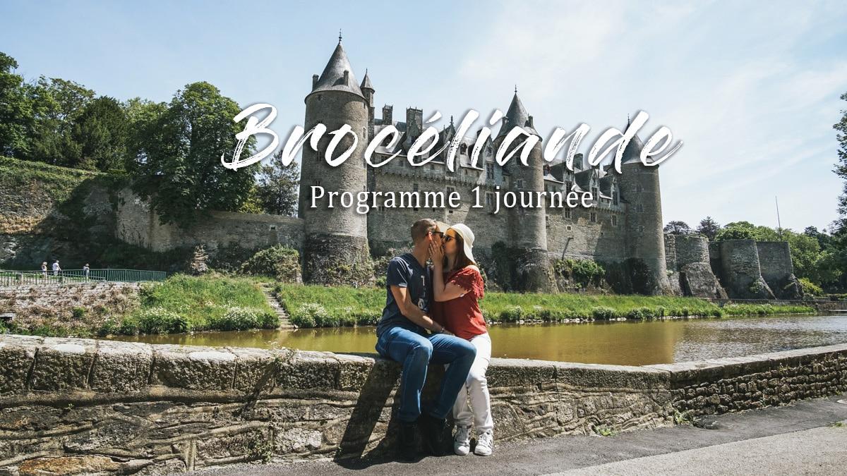 château couple brocéliande